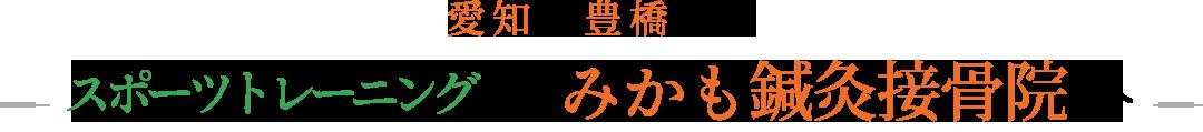 愛知県豊橋市でスポーツ治療ならみかも鍼灸接骨院へ